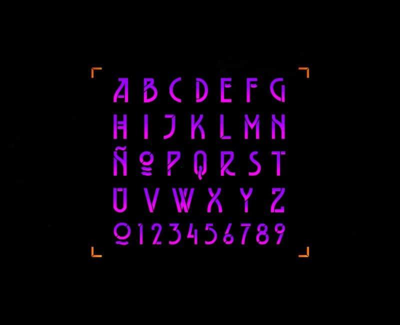 Download Belladona Stencil font (typeface)
