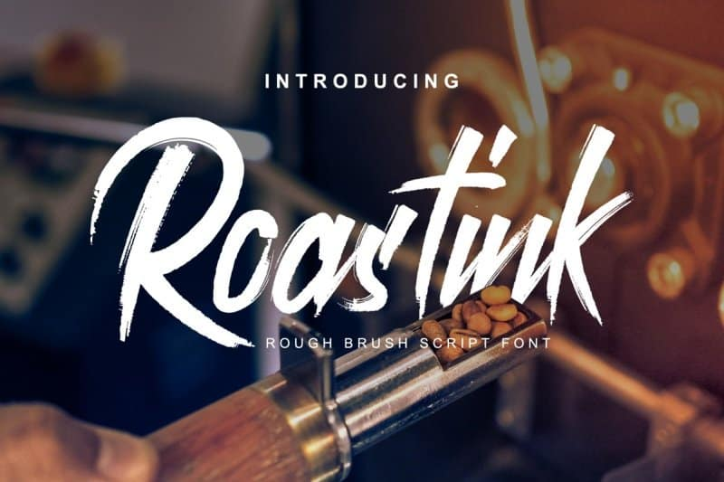 Download Roastink Script Rough Brush font (typeface)
