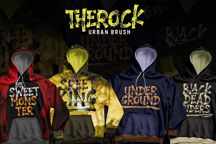 Download THEROCK // URBAN BRUSH font (typeface)