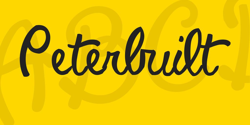Download Peterbuilt font (typeface)