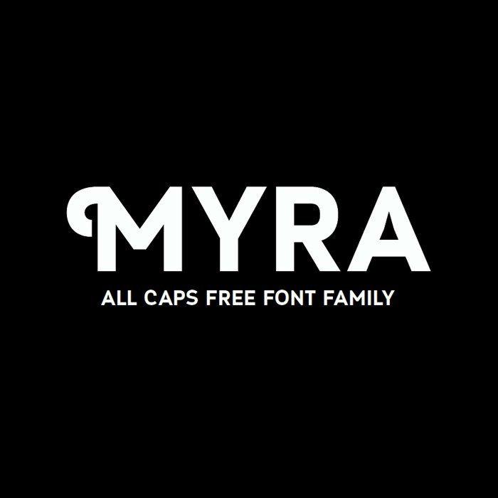 Download Myra 4F Caps font (typeface)