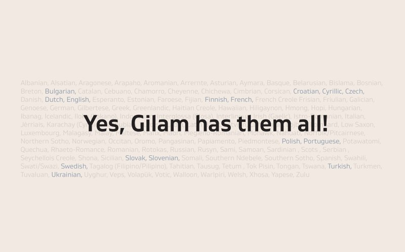 Download Gilam font (typeface)