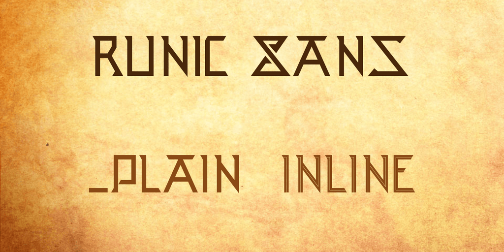 Runic Sans шрифт скачать бесплатно