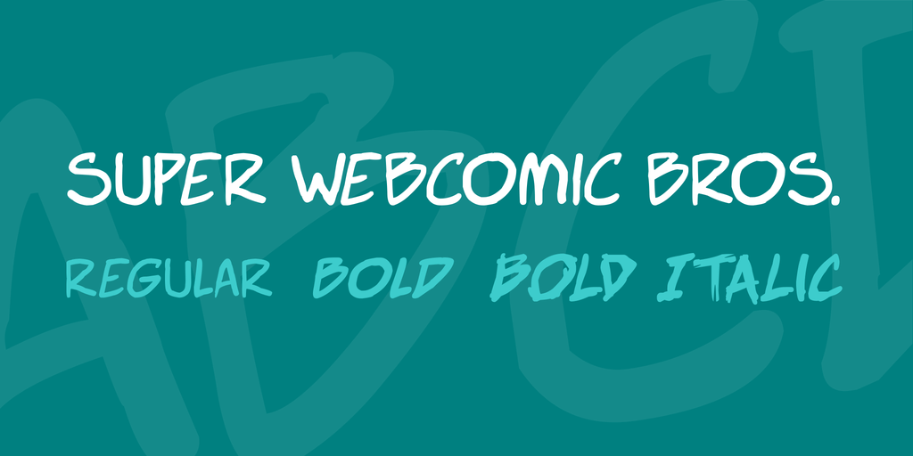 Download Super Webcomic Bros font (typeface)