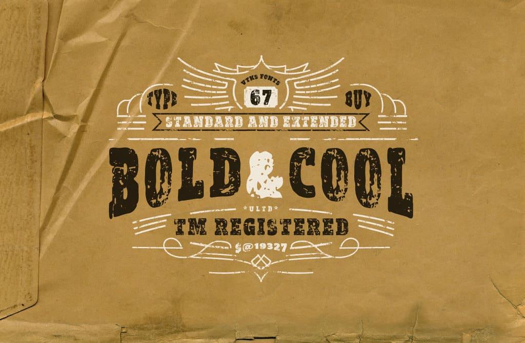 Download Vtks Bold&Cool font (typeface)