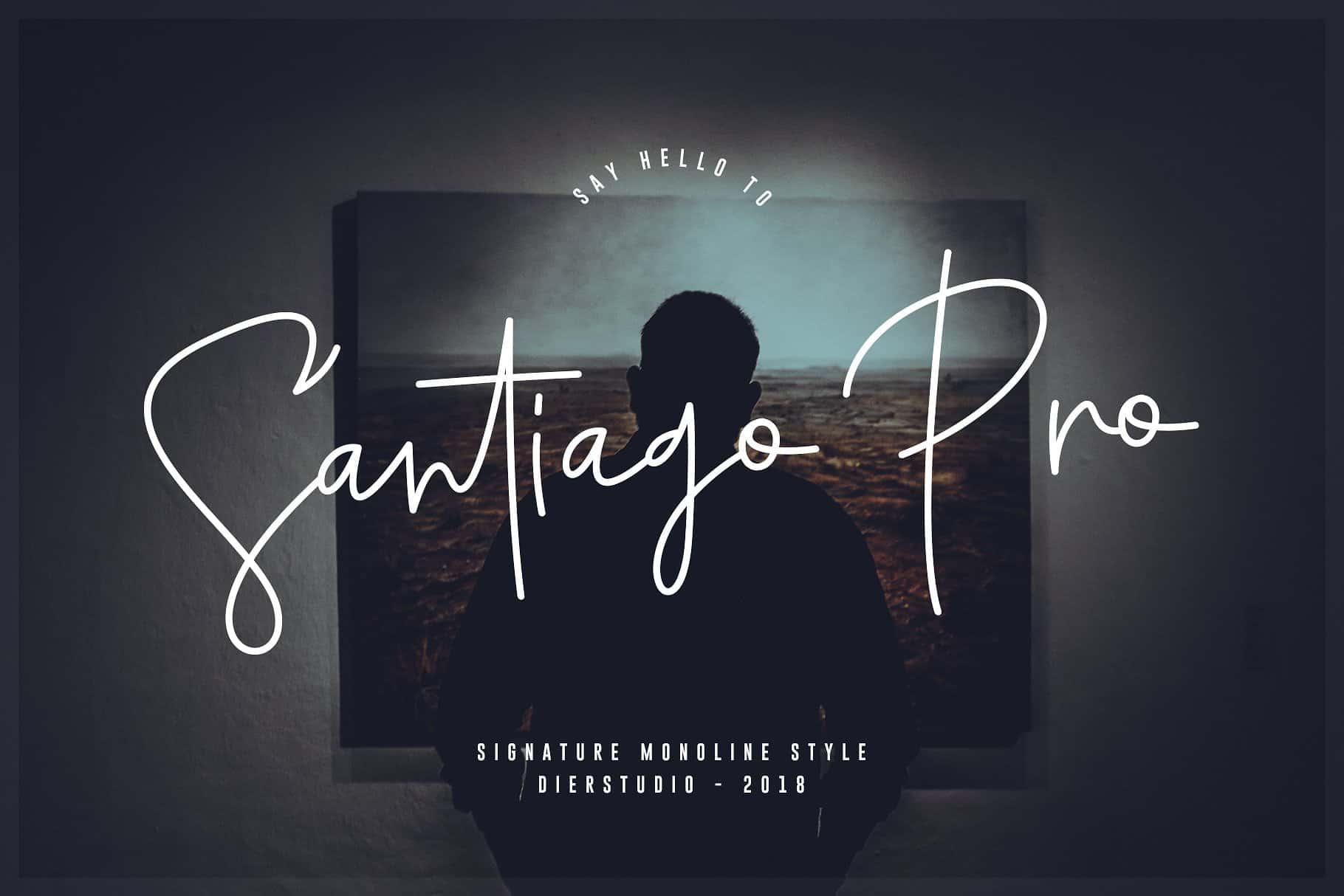 Download Santiago Pro font (typeface)