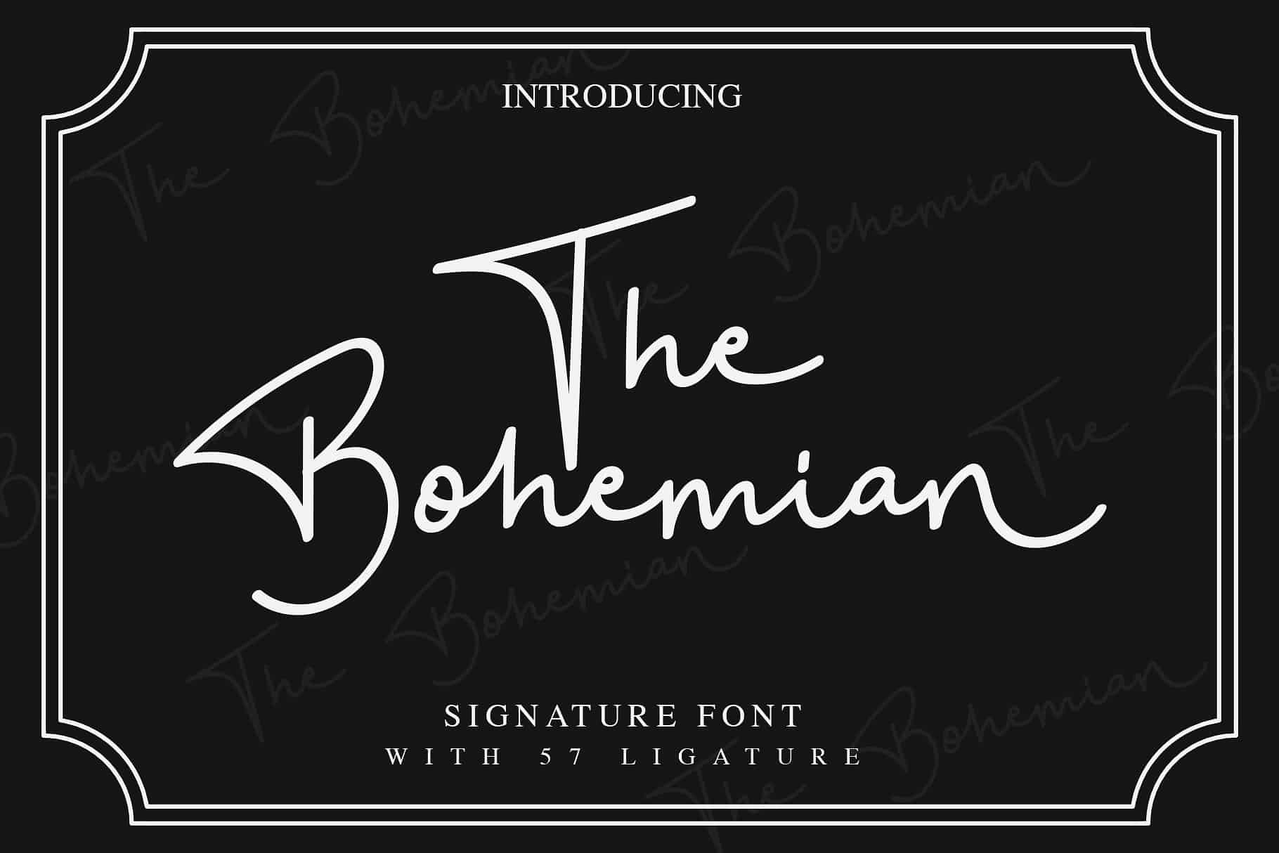 Download The Bohemian font (typeface)