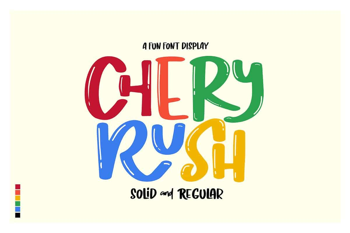 Download Chery Rush font (typeface)