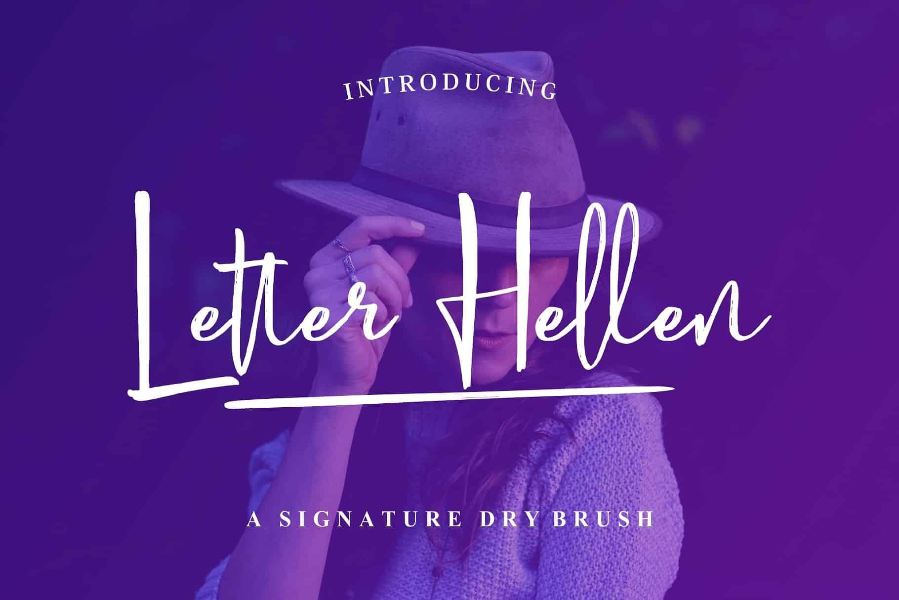 Download Letter Hellen font (typeface)
