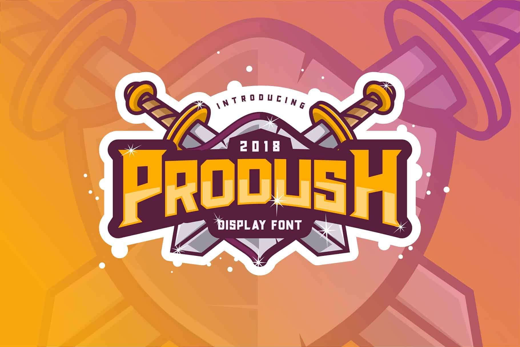 Download Prodush font (typeface)