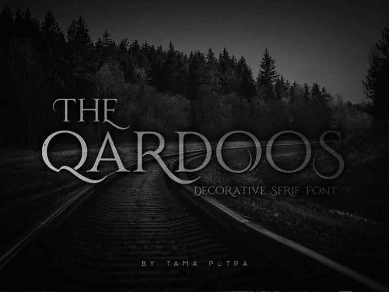 Download Qardoos font (typeface)