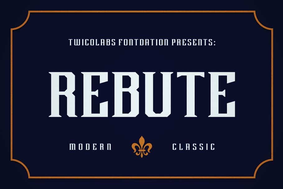 Download Rebute font (typeface)