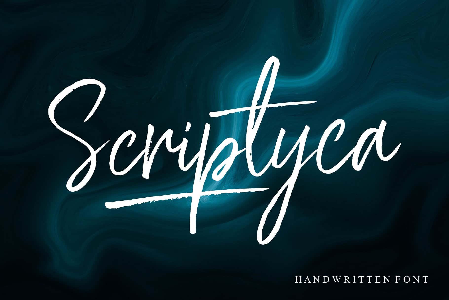 Download Scriptyca font (typeface)