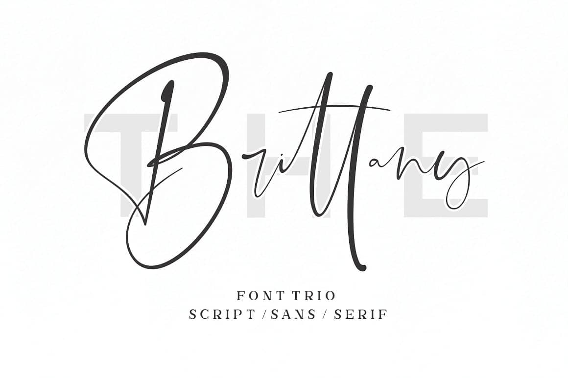 Download The Brittany font (typeface)