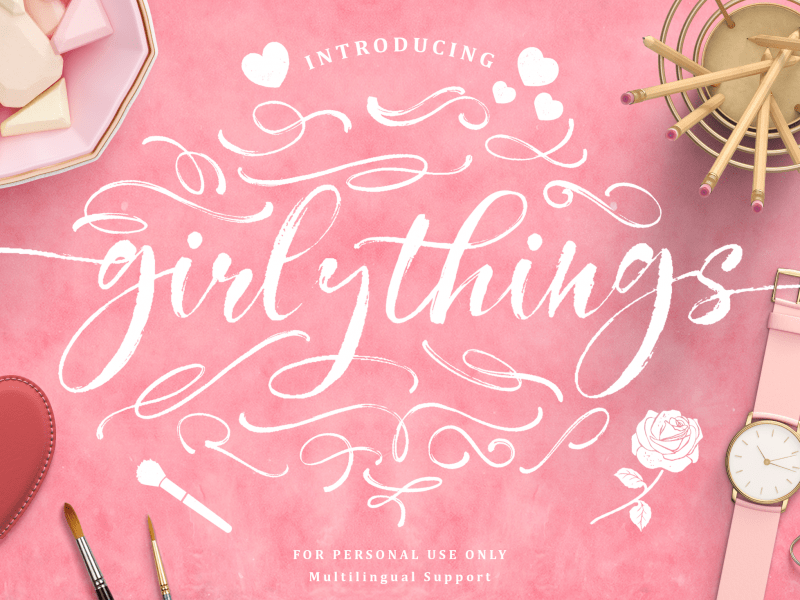 Download Girly Things font (typeface)