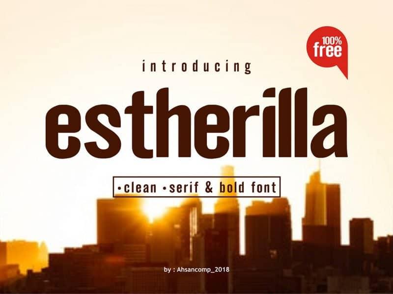 Download Estherilla font (typeface)