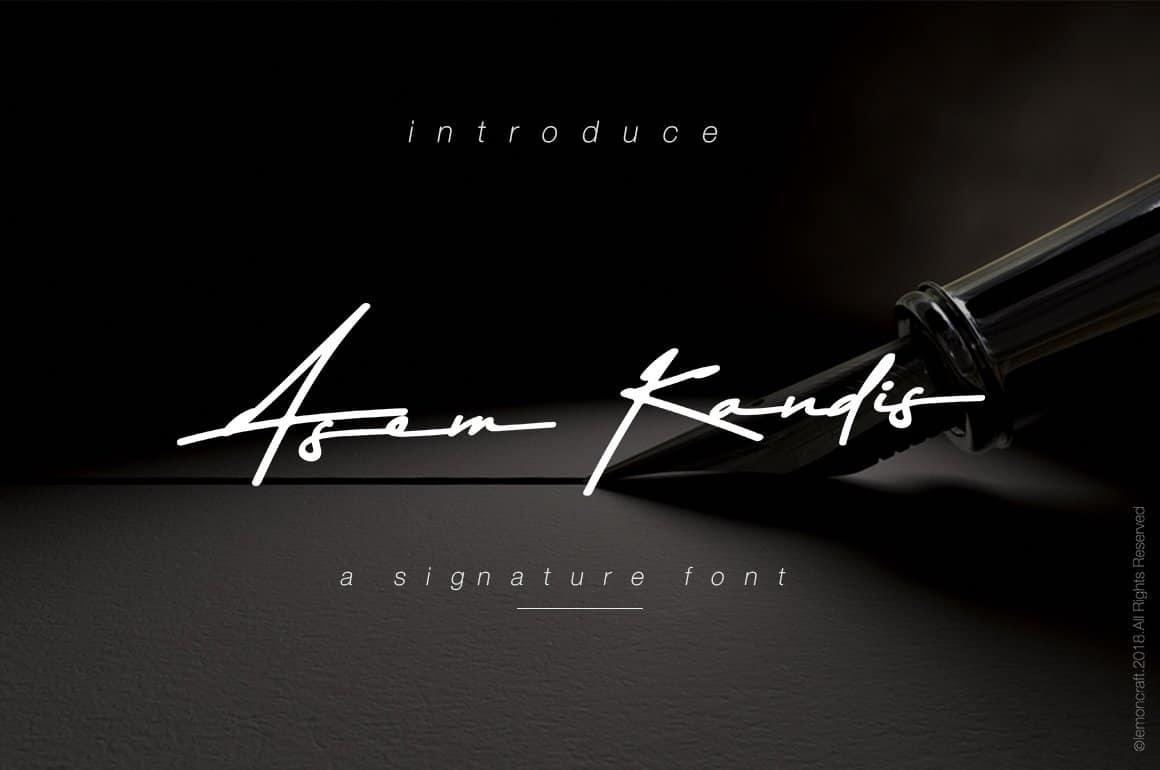 Download Asem Kandis font (typeface)