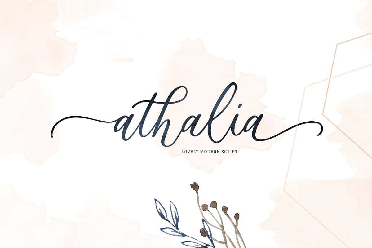 Download Athalia font (typeface)