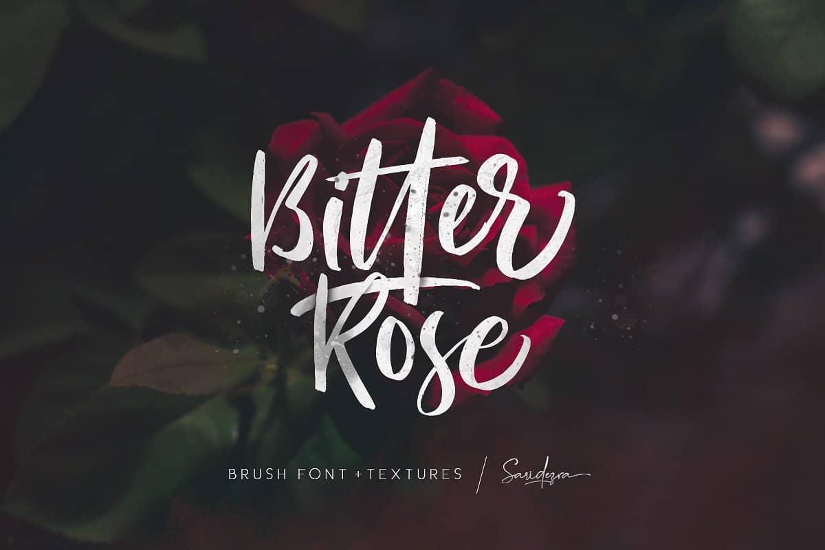 Download Bitter Rose font (typeface)