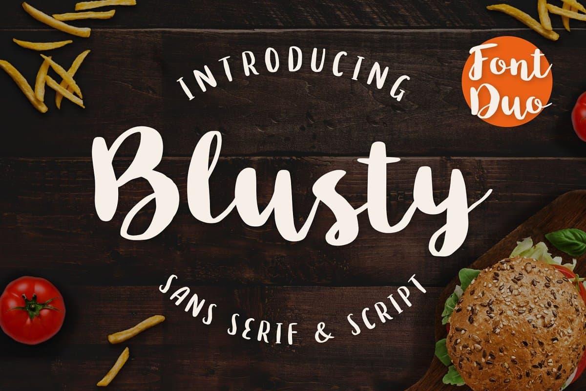 Download Blusty font (typeface)