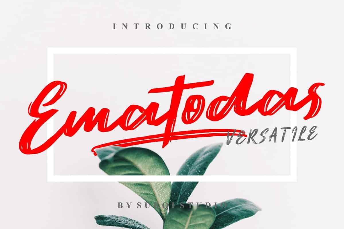 Download Ematodas font (typeface)
