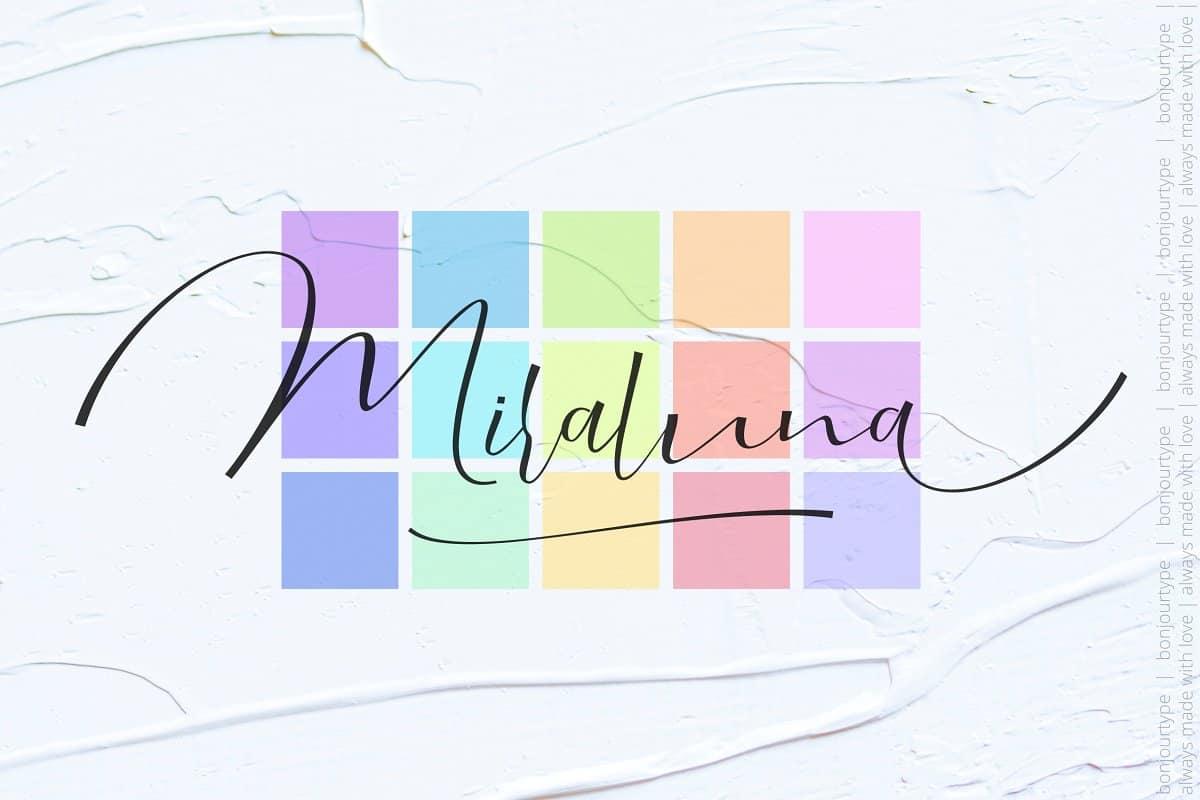 Download Miraluna font (typeface)