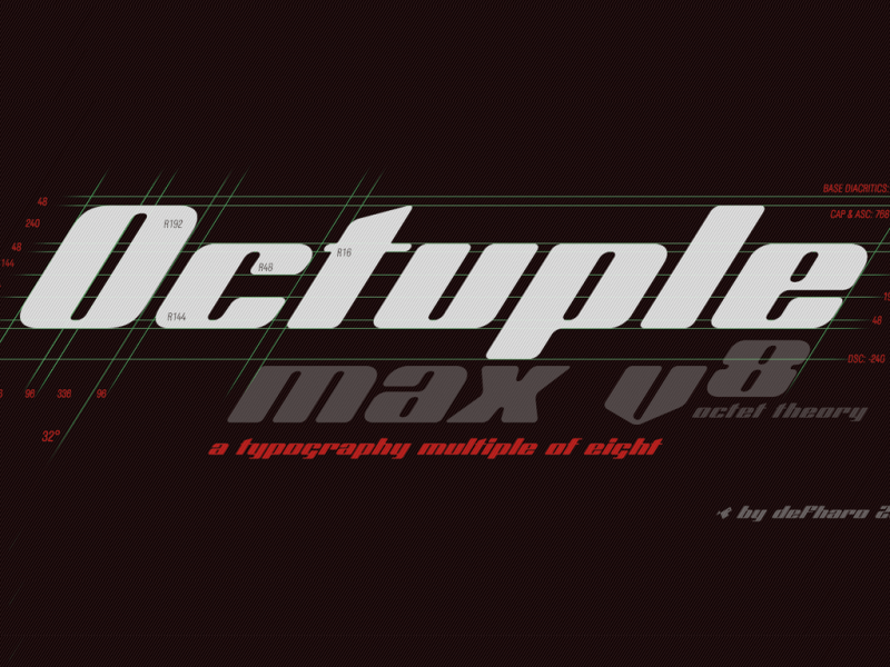 Download Octuple Max font (typeface)