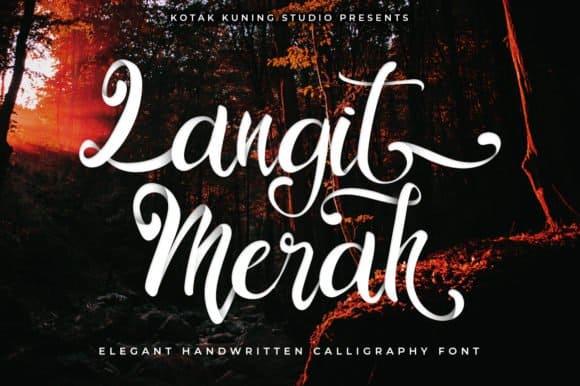Download Langit Merah Font font (typeface)
