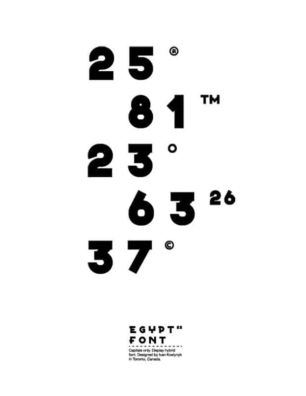 Download Egypt 22 font (typeface)