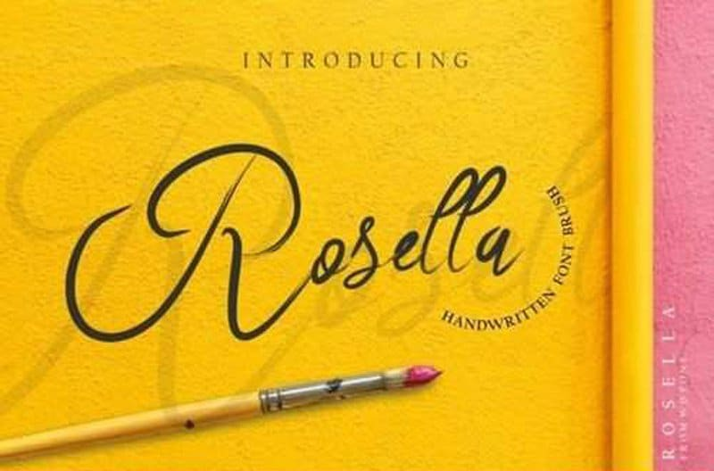 Download Rosella font (typeface)