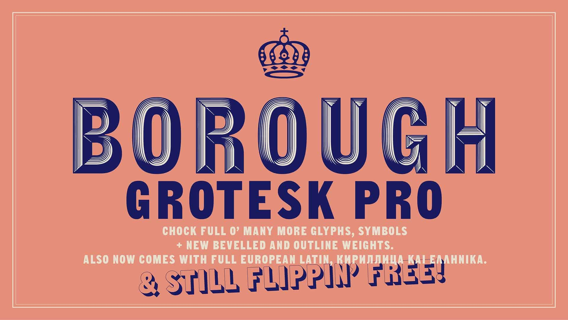 Download Borough Grotesk Pro font (typeface)