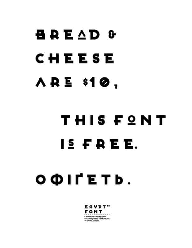 Download Egypt 22 font (typeface)