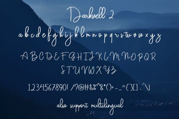Download Darkwell Font Family font (typeface)