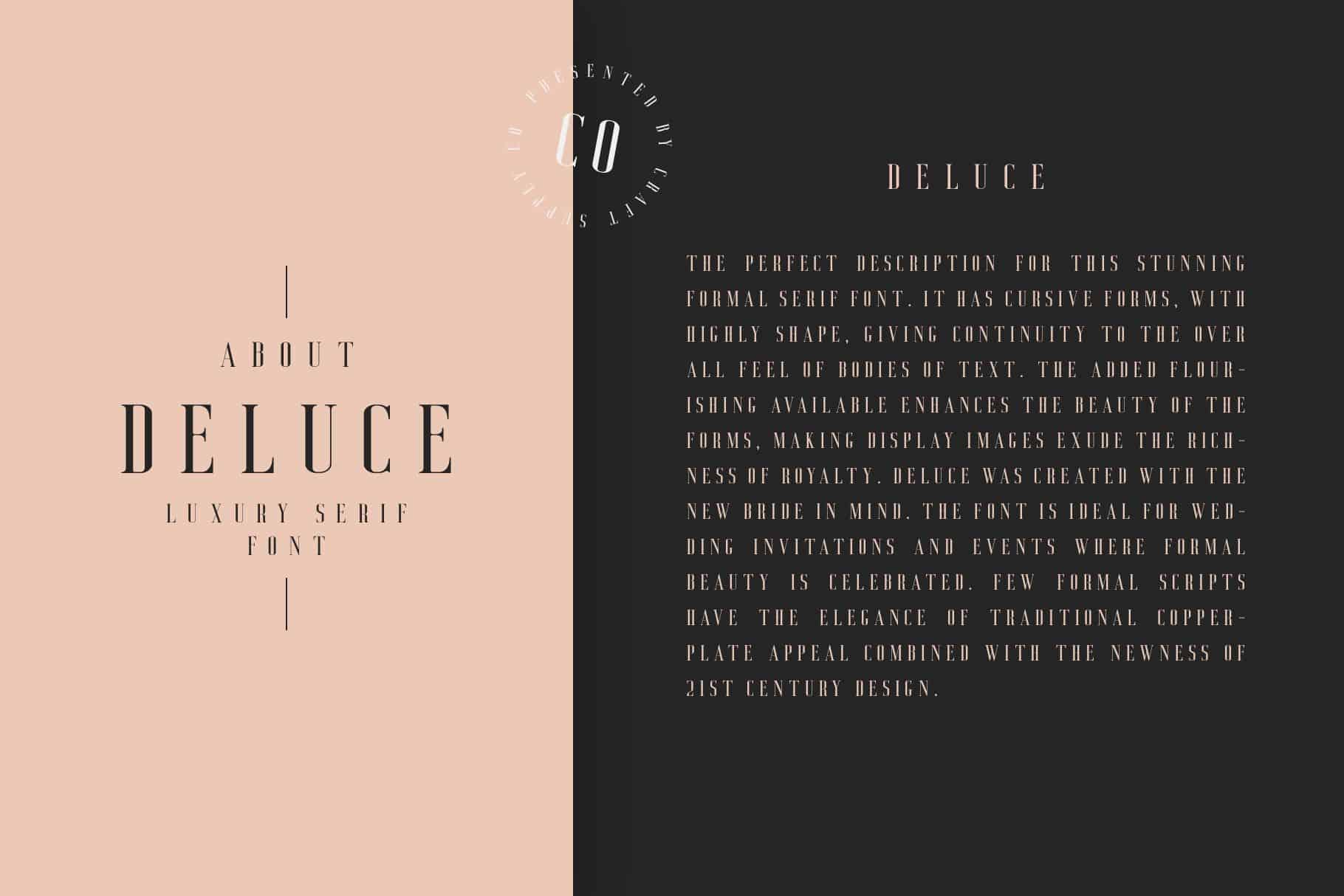 Download Deluce font (typeface)