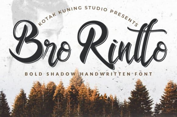 Download Bro Rintto font (typeface)