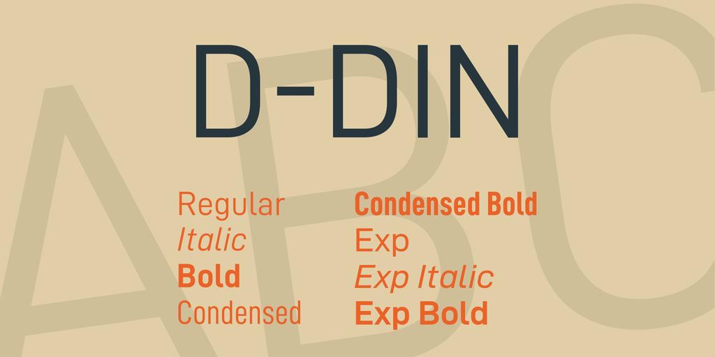 Download D-DIN font (typeface)