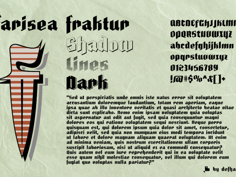 Download Farisea Fraktur font (typeface)