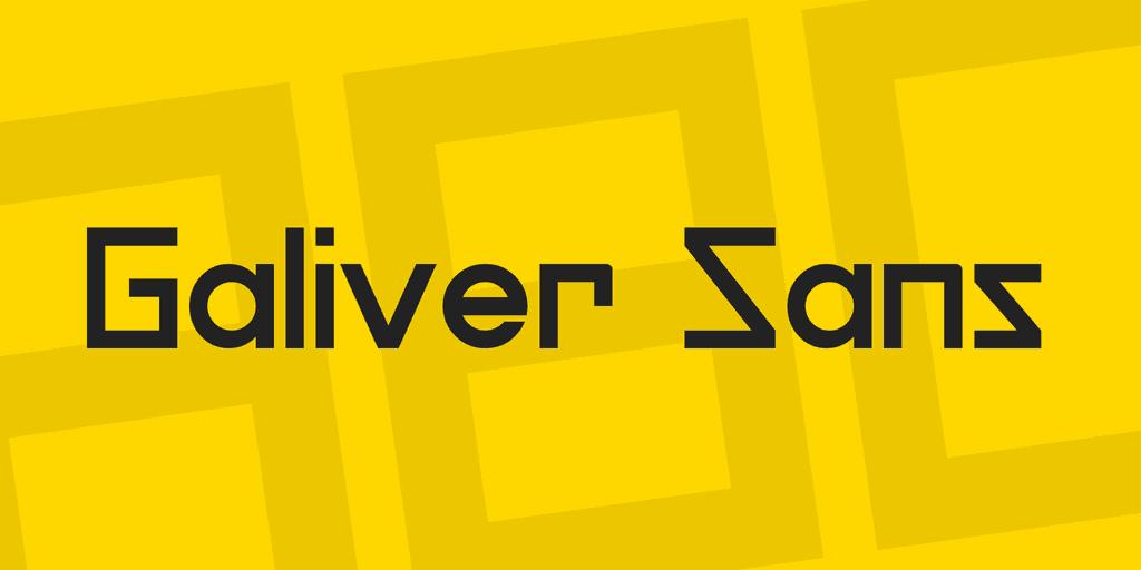 Download Galiver font (typeface)