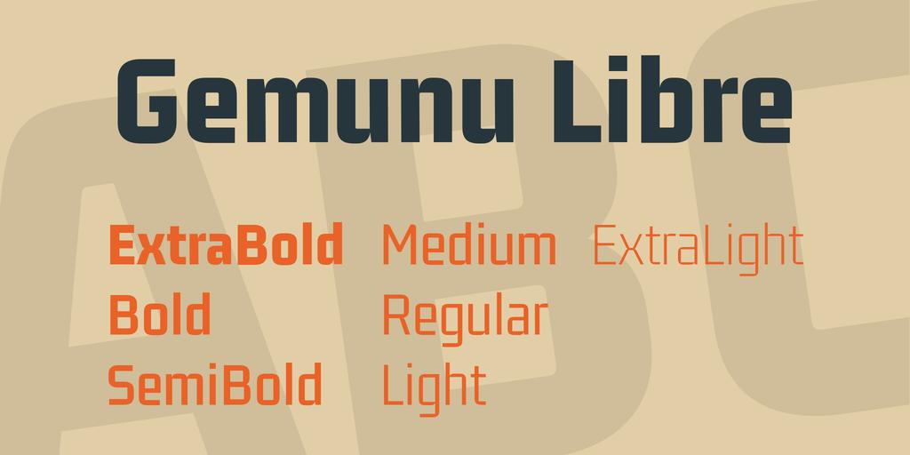Download Gemunu Libre font (typeface)