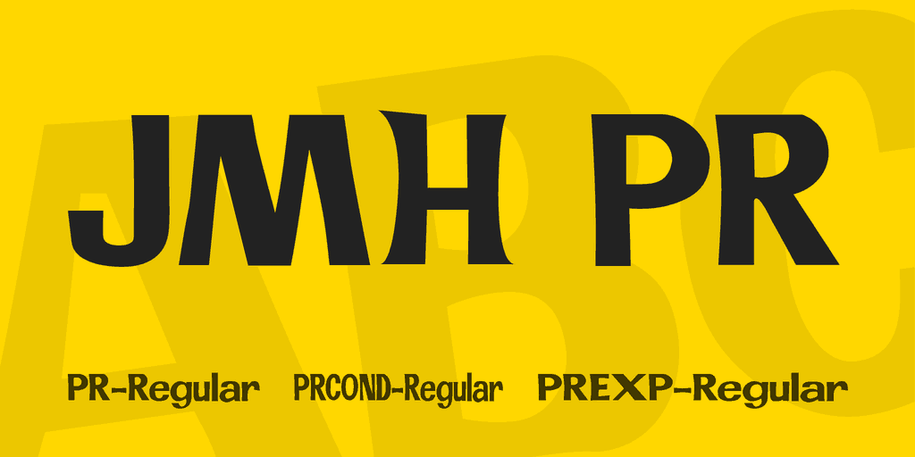 Download JMH PR font (typeface)