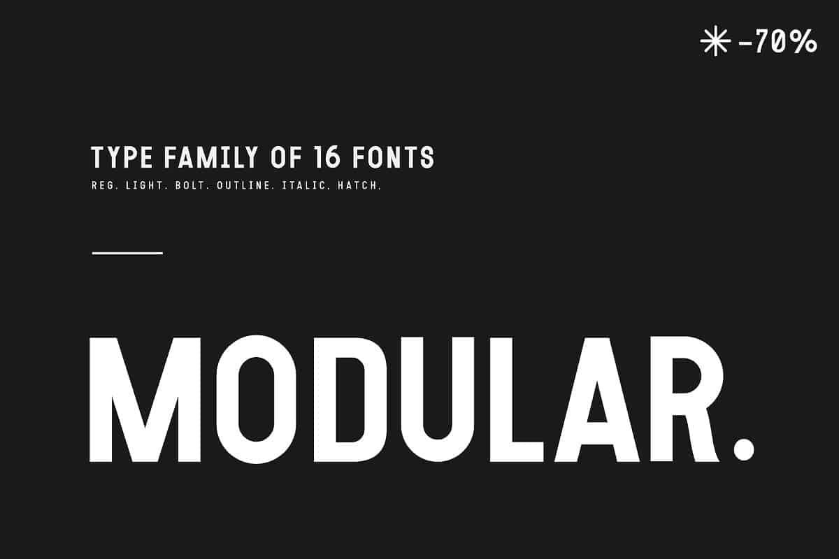 Download Modular font (typeface)