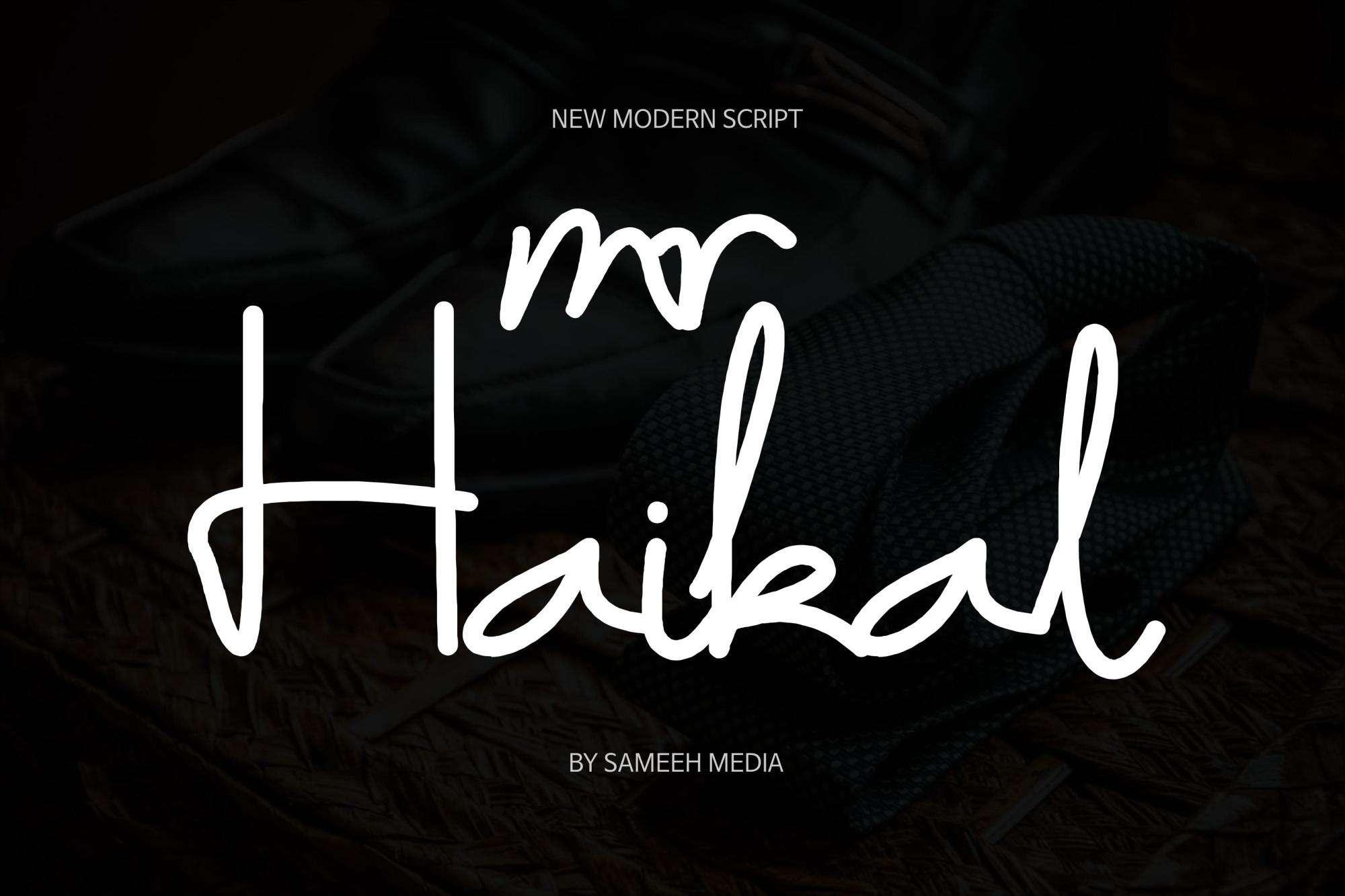 Download Mr Haikal Typeface font (typeface)