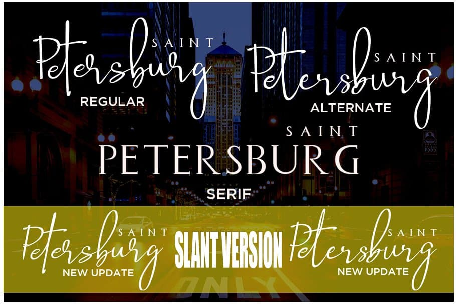 Download Saint Petersburg font (typeface)