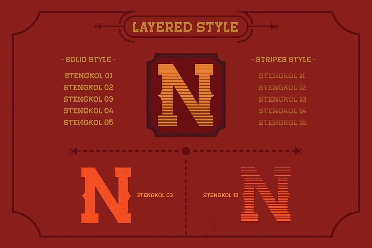 Download Stengkol font (typeface)