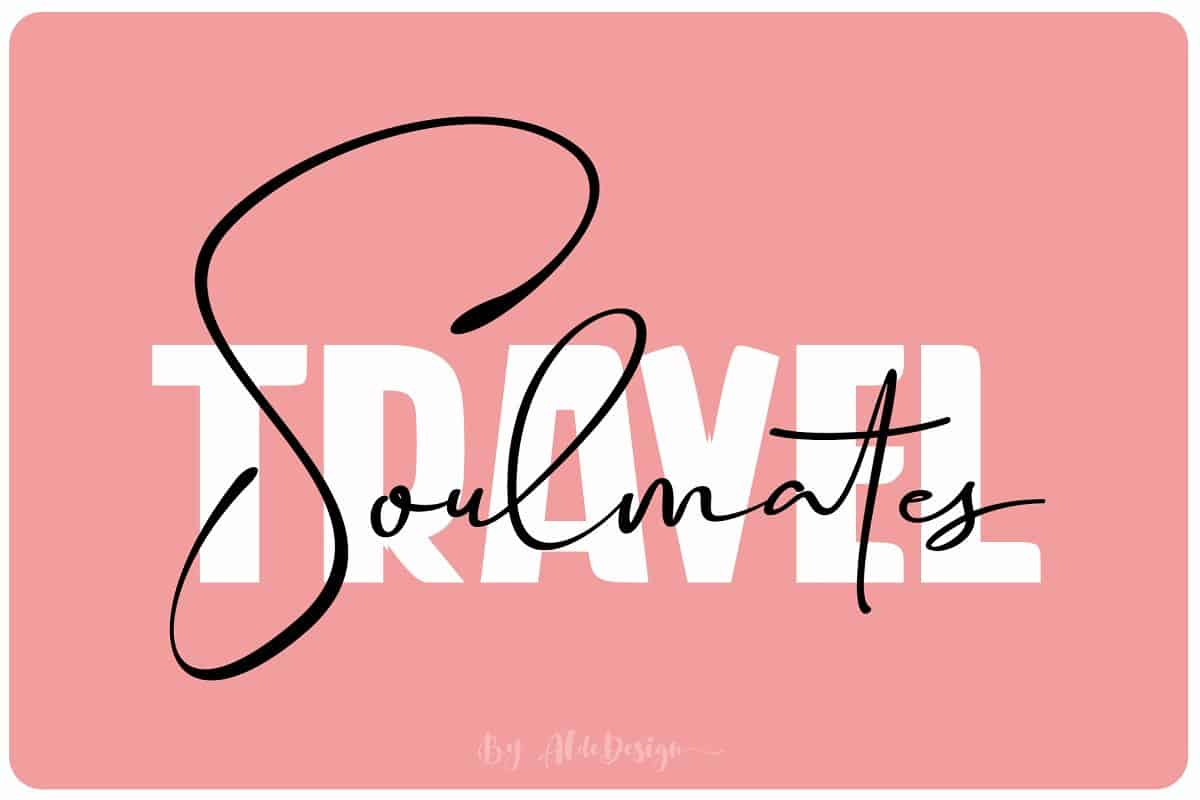 Download Travel Soulmates font (typeface)