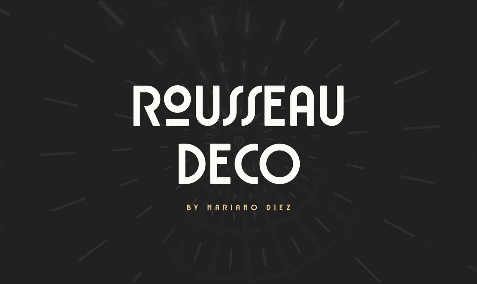 Download Rousseau Deco font (typeface)