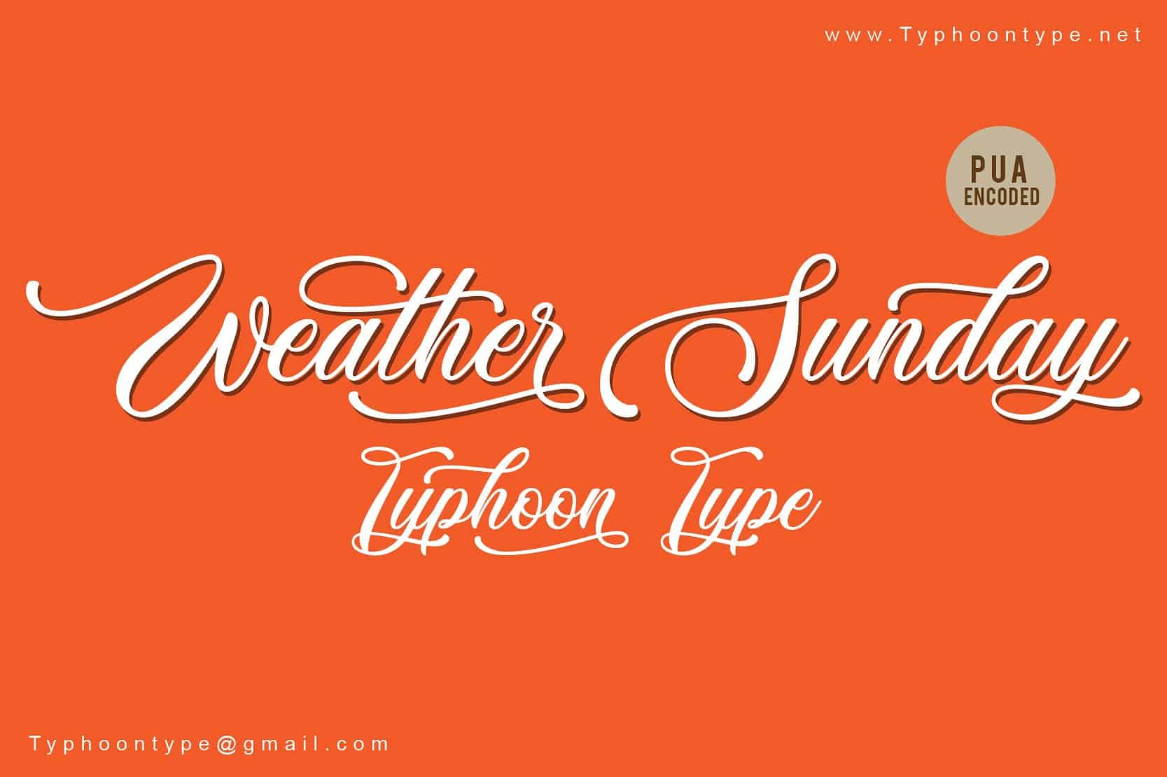 Download Weather Sunday font (typeface)