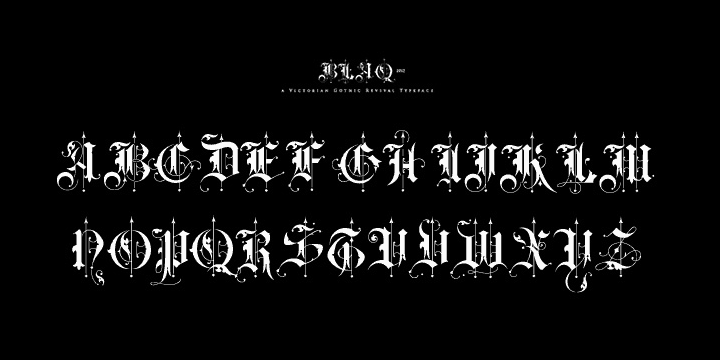 Download BLAQ font (typeface)