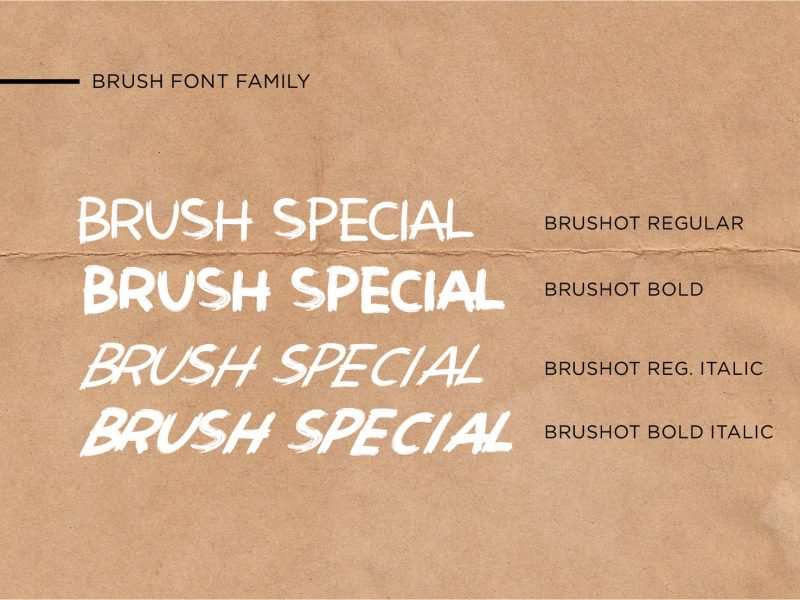 Download Brushot font (typeface)
