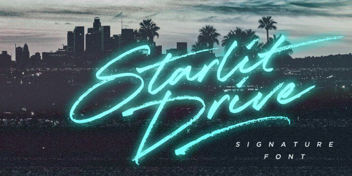 Download Starlit Drive font (typeface)